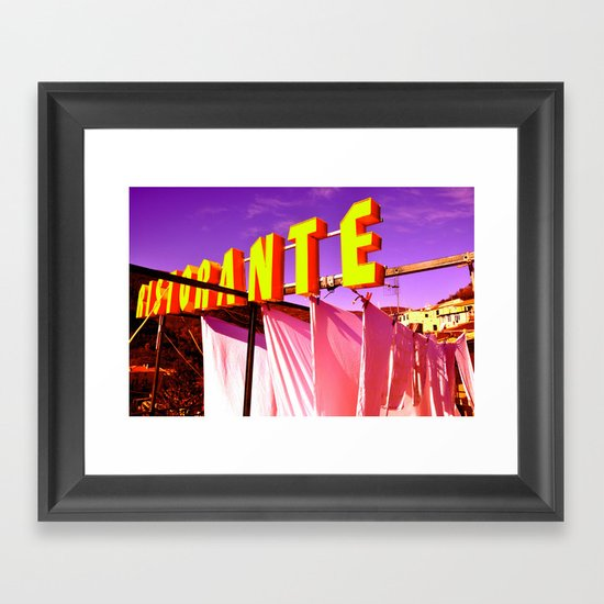 RISTORANTE Framed Art Print