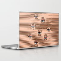 tom selleck Laptop & iPad Skins featuring PEEPING TOM by Wesley Bird