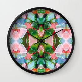 Sea Glass 8 Wall Clock