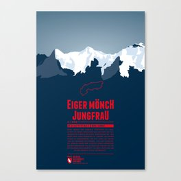 Eiger Mönch Jungfrau Canvas Print
