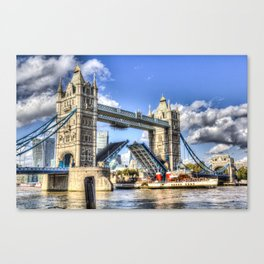 Tower Bridge and the Waverley Canvas Print