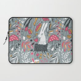 Botanical blockprint bunny Laptop Sleeve