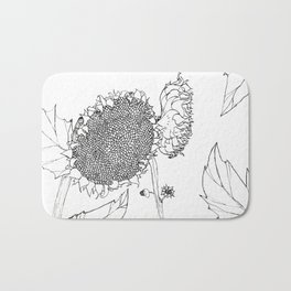 WabiSabi Sunflower Bath Mat