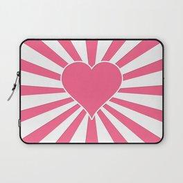 Midi Pink Valentine Sweetheart Sun rays Laptop Sleeve
