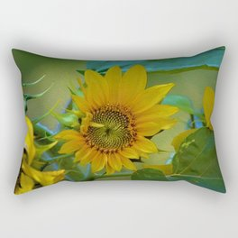 Sunflower Solar System Rectangular Pillow