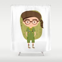 sam smith Shower Curtains featuring Sam Shakusky  by Creo tu mundo
