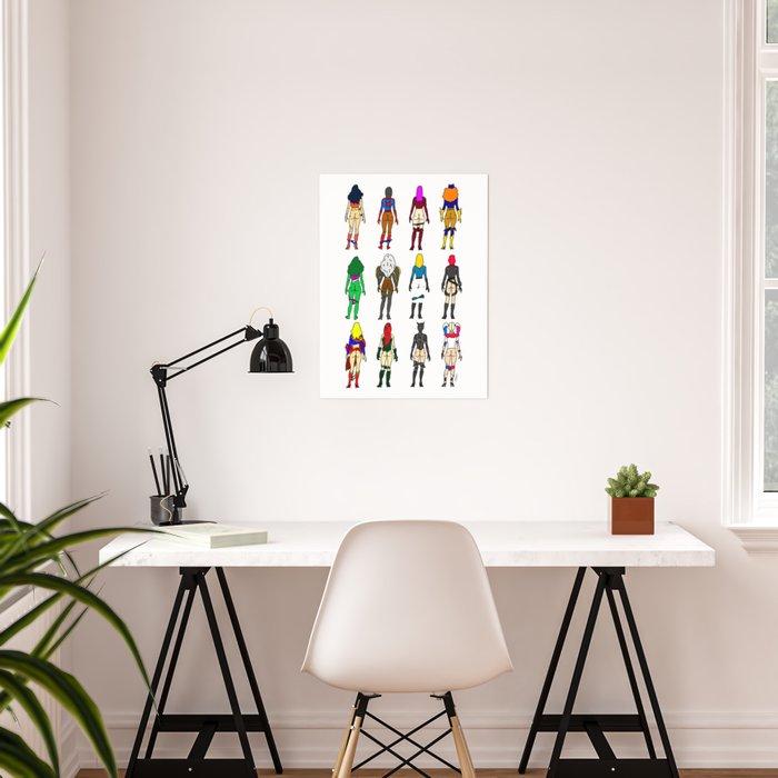 Superhero Butts - Girls Superheroine Butts LV Poster