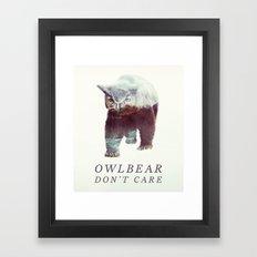 Owlbear (Typography) Framed Art Print