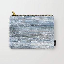 Pewter Blue abstract watercolor Carry-All Pouch