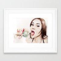 sasha grey Framed Art Prints featuring Sasha Grey by Dr.Söd