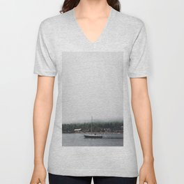 Sailboat and the Fog Unisex V-Neck