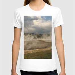 A Cloud Of Steam And Water Over A Geyser T-shirt