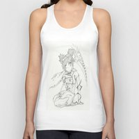 anime Tank Tops featuring Anime by Peggy Murphy