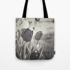When Spring Was Here B/W Tote Bag