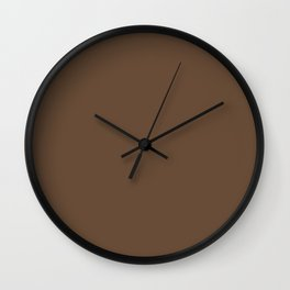 Look Away Brown Wall Clock