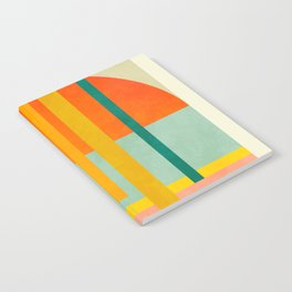 trees with tropical sun Notebook