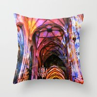 vienna Throw Pillows featuring Vienna Technicolor by Stokes Whitaker