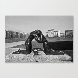 Reconciliation sculpture in East Berlin Canvas Print