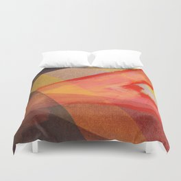 Orange flow Duvet Cover