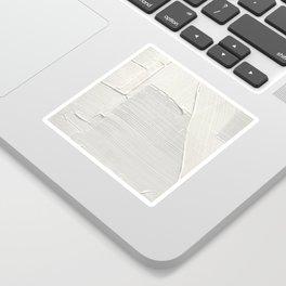 Relief [2]: an abstract, textured piece in white by Alyssa Hamilton Art Sticker