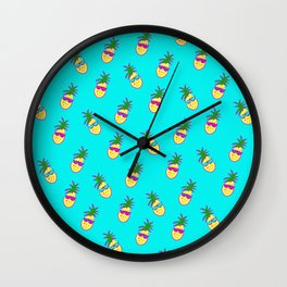 Party Pineapples!  Wall Clock