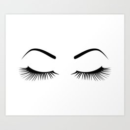 Closed Eyelashes (Both Eyes) Art Print