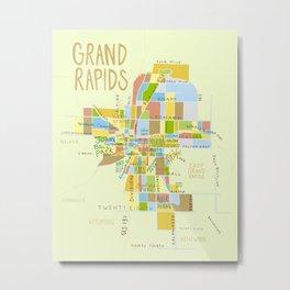 Grand Rapids Illustrated MAP Metal Print