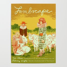 LAMBSCAPE Album Release Poster Poster