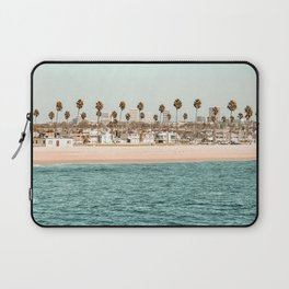Vintage Newport Beach Print {1 of 4} | Photography Ocean Palm Trees Teal Tropical Summer Sky Laptop Sleeve