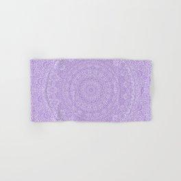 The Most Detailed Intricate Mandala (Violet Purple) Maze Zentangle Hand Drawn Popular Trending Hand & Bath Towel