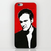 tarantino iPhone & iPod Skins featuring Quentin Tarantino in Color by Carolyn Campbell