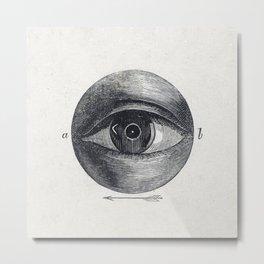 Menselijk oog met een afwijking (1836-1912) print in high resolution by Isaac Weissenbruch Metal Print