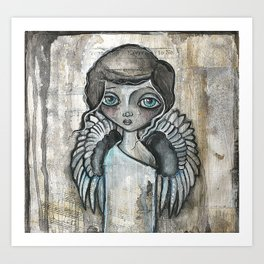 Angelady Art Print