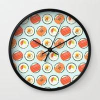 sushi Wall Clocks featuring Sushi by abby putinski
