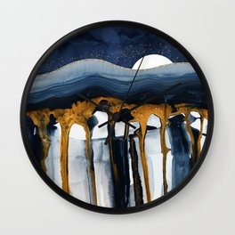 Liquid Hills Wall Clock