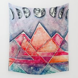 Abstract Moon Phases Wall Tapestry