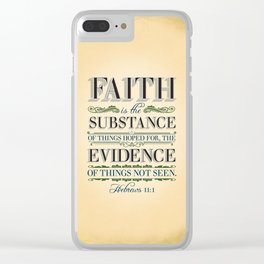 The Substance of Things Hoped for . . . Clear iPhone Case