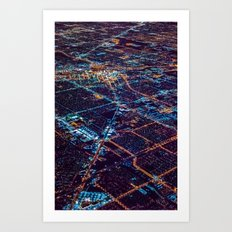 City from above 3 Art Print