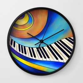Redemessia - spiral piano Wall Clock