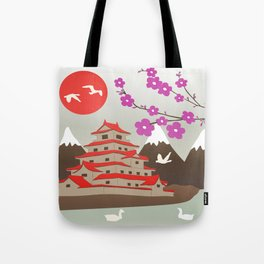 Japanese Pagoda Tote Bag