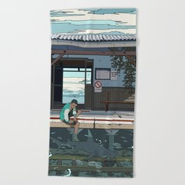 High Tide Tracks Beach Towel