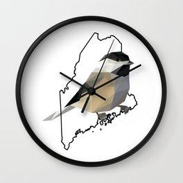 Maine – Black-Capped Chickadee Wall Clock