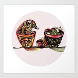 Two Bowls Art Print