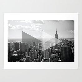 New York Fast Foward Print Art Print