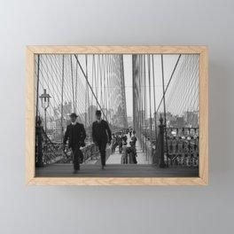 Brooklyn Bridge - Vintage New York - 1910 Framed Mini Art Print