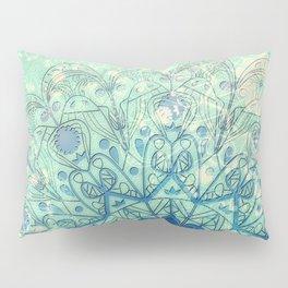 Mandala in Sea Green and Blue Pillow Sham