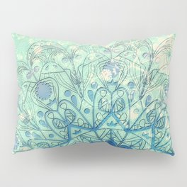 Mandala in Sea Green and Blue Pillow Sham