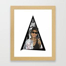 Youtriangle ∆ Wiz Khalifa Framed Art Print