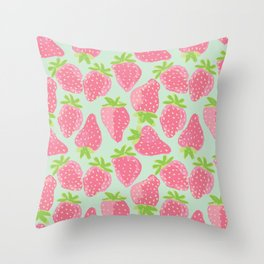Strawberry Patch Throw Pillow