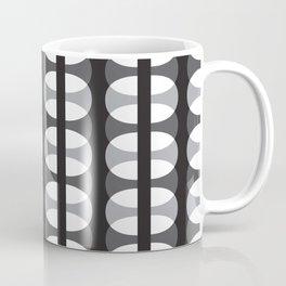 Geometric Pattern #186 (gray ovals) Coffee Mug